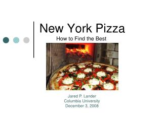 New York Pizza How to Find the Best