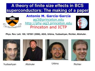 A theory of finite size effects in BCS superconductors: The making of a paper