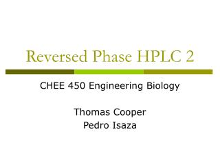 Reversed Phase HPLC 2