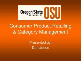 Consumer Product Retailing & Category Management