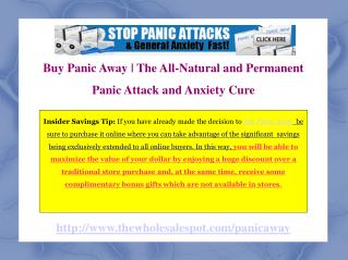 Panic Away Anxiety Attack Treatment Program