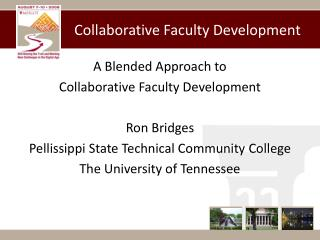 Collaborative Faculty Development
