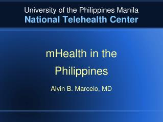 University of the Philippines Manila National Telehealth Center