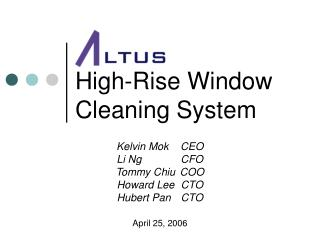 High-Rise Window Cleaning System