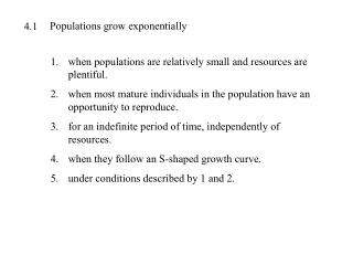 Populations grow exponentially