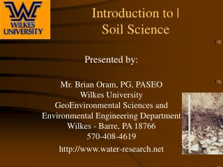 Introduction to | Soil Science