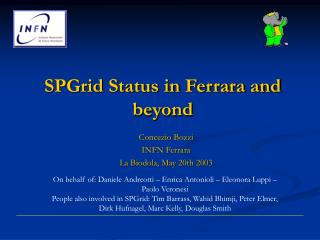 SPGrid Status in Ferrara and beyond