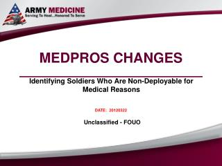 MEDPROS CHANGES