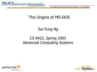 The Origins of MS-DOS