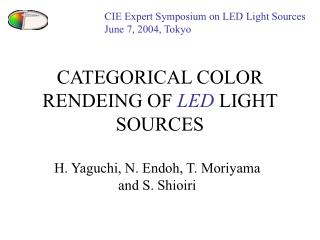 CATEGORICAL COLOR RENDEING OF  LED  LIGHT SOURCES