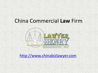 Professional China Commercial Law Firm