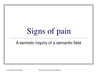 Signs of pain