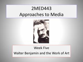 2MED443 Approaches to Media