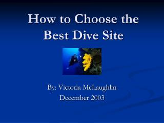 How to Choose the Best Dive Site