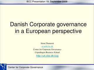 BCC Presentation 19. September 2008
