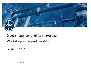 Sodalitas Social Innovation Workshop sulla partnership