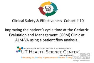 Clinical Safety & Effectiveness  Cohort # 10