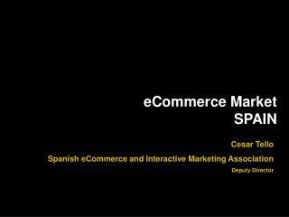 eCommerce Market SPAIN