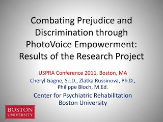 Combating Prejudice and Discrimination through PhotoVoice Empowerment: Results of the Research Project