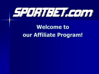 Welcome to our Affiliate Program!