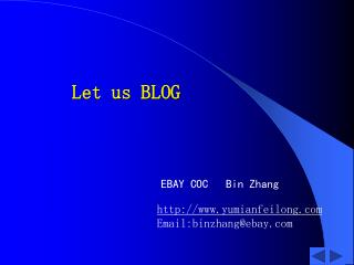 Let us BLOG