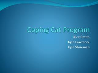 Coping Cat Program