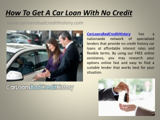 where can I get a car loan with no credit check