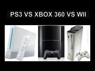 Ps3 vs xbox 360 vs wii