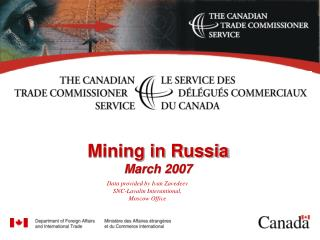 Mining in Russia March 2007
