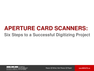 Aperture Card Scanners: Six Steps to a Successful Digitizing