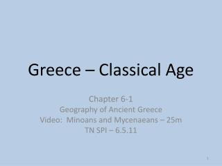 Greece – Classical Age