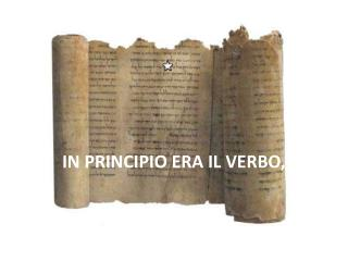 IN PRINCIPIO ERA IL VERBO,