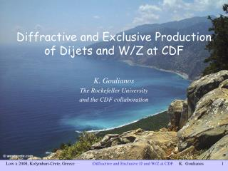 Diffractive and Exclusive Production of Dijets and W/Z at CDF