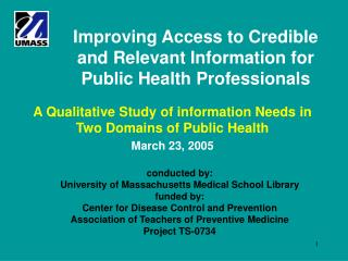 Improving Access to Credible and Relevant Information for Public Health Professionals