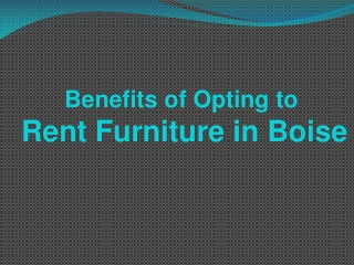 Rent Furniture in Boise
