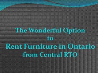 Rent Furniture in Ontario