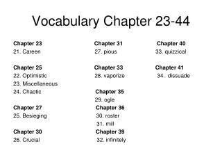 Vocabulary Chapter 23-44