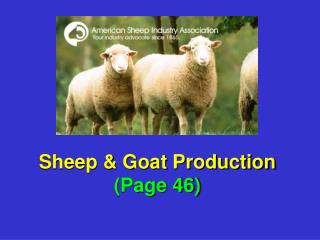 Sheep & Goat Production (Page 46)