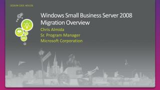 Windows Small Business Server 2008 Migration Overview