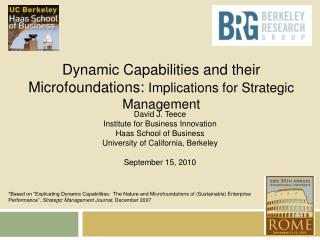 Dynamic Capabilities and their Microfoundations : Implications for Strategic Management