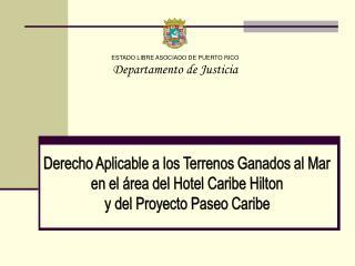 ESTADO LIBRE ASOCIADO DE PUERTO RICO Departamento de Justicia