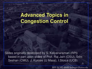 Advanced Topics in Congestion Control