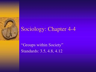 Sociology: Chapter 4-4