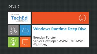 Windows Runtime Deep Dive