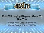 251H VI Imaging Display:  Great To See You