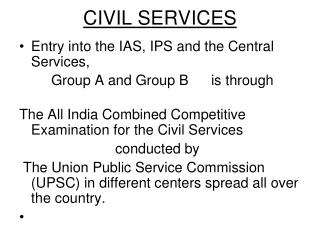 CIVIL SERVICES