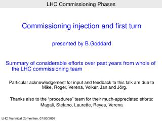 LHC Commissioning Phases