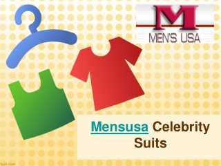 Mensusa Celebrity Suits