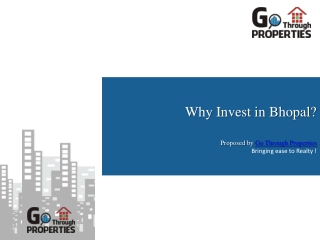 Invest in Bhopal Properties - GoThrough Properties, Bhopal