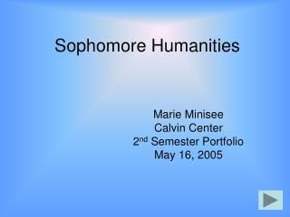 Sophomore Humanities